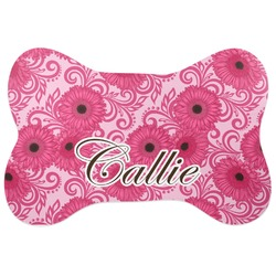 Gerbera Daisy Bone Shaped Dog Food Mat (Personalized)