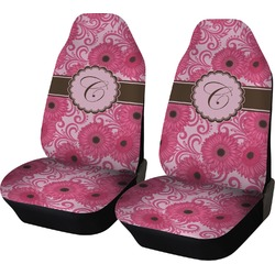 Gerbera Daisy Car Seat Covers (Set of Two) (Personalized)