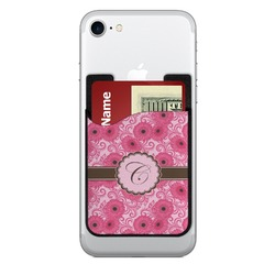 Gerbera Daisy Cell Phone Credit Card Holder (Personalized)
