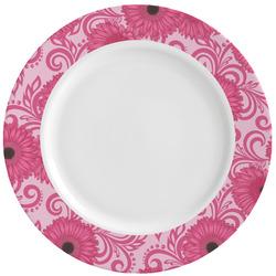 Gerbera Daisy Ceramic Dinner Plates (Set of 4) (Personalized)