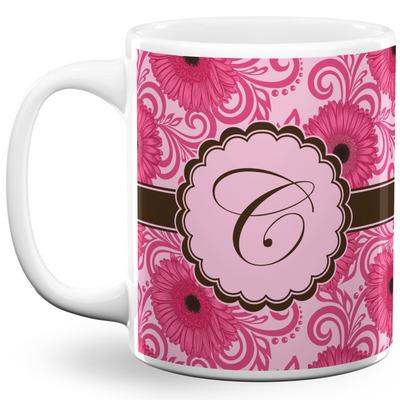 Gerbera Daisy 11 Oz Coffee Mug - White (Personalized)