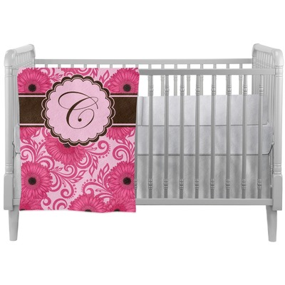 Gerbera Daisy Crib Comforter / Quilt (Personalized)