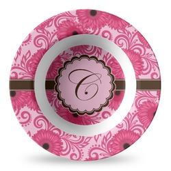 Gerbera Daisy Plastic Bowl - Microwave Safe - Composite Polymer (Personalized)