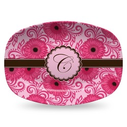 Gerbera Daisy Plastic Platter - Microwave & Oven Safe Composite Polymer (Personalized)