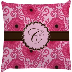 Gerbera Daisy Decorative Pillow Case (Personalized)
