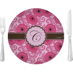 """Gerbera Daisy Glass Lunch / Dinner Plates 10"""" - Single or Set (Personalized)"""