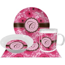 Gerbera Daisy Dinner Set - 4 Pc (Personalized)