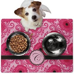 Gerbera Daisy Dog Food Mat - Medium w/ Initial
