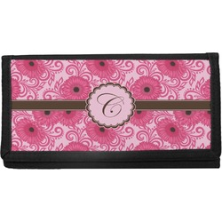 Gerbera Daisy Canvas Checkbook Cover (Personalized)