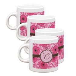 Gerbera Daisy Espresso Mugs - Set of 4 (Personalized)