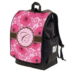 Gerbera Daisy Backpack w/ Front Flap  (Personalized)