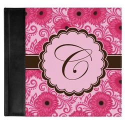 Gerbera Daisy Genuine Leather Baby Memory Book (Personalized)