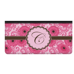 Gerbera Daisy Genuine Leather Checkbook Cover (Personalized)