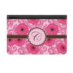 Gerbera Daisy Genuine Leather ID & Card Wallet - Slim Style (Personalized)
