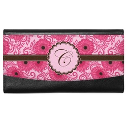 Gerbera Daisy Genuine Leather Ladies Wallet (Personalized)