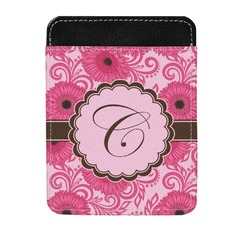 Gerbera Daisy Genuine Leather Money Clip (Personalized)