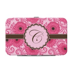Gerbera Daisy Genuine Leather Small Framed Wallet (Personalized)