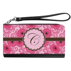 Gerbera Daisy Genuine Leather Smartphone Wrist Wallet (Personalized)