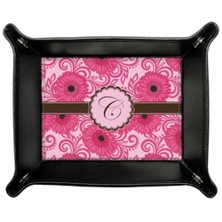 Gerbera Daisy Genuine Leather Valet Tray (Personalized)