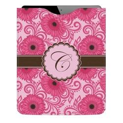 Gerbera Daisy Genuine Leather iPad Sleeve (Personalized)