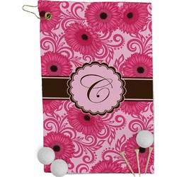 Gerbera Daisy Golf Towel - Full Print (Personalized)