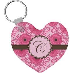 Gerbera Daisy Heart Keychain (Personalized)