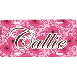 Gerbera Daisy Front License Plate (Personalized)