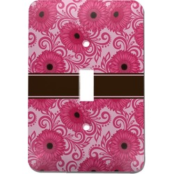 Gerbera Daisy Light Switch Cover (Single Toggle) (Personalized)