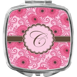 Gerbera Daisy Compact Makeup Mirror (Personalized)