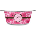 Gerbera Daisy Stainless Steel Dog Bowl (Personalized)