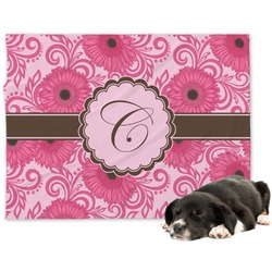 Gerbera Daisy Minky Dog Blanket (Personalized)