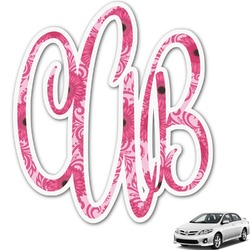 Gerbera Daisy Monogram Car Decal (Personalized)
