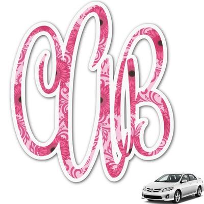 Gerbera Daisy Monogram Car Decal (Personalized)