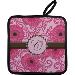 Gerbera Daisy Pot Holder w/ Initial