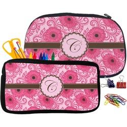 Gerbera Daisy Pencil / School Supplies Bag (Personalized)