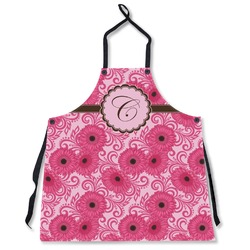 Gerbera Daisy Apron Without Pockets w/ Initial