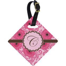 Gerbera Daisy Diamond Luggage Tag (Personalized)