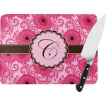 Gerbera Daisy Rectangular Glass Cutting Board (Personalized)