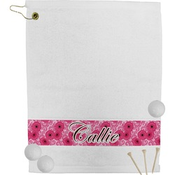 Gerbera Daisy Golf Towel (Personalized)