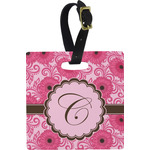 Gerbera Daisy Square Luggage Tag (Personalized)