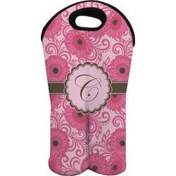 Gerbera Daisy Wine Tote Bag (2 Bottles) (Personalized)