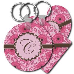 Gerbera Daisy Plastic Keychains (Personalized)