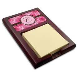 Gerbera Daisy Red Mahogany Sticky Note Holder (Personalized)