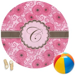 Gerbera Daisy Round Beach Towel (Personalized)