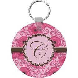 Gerbera Daisy Round Keychain (Personalized)