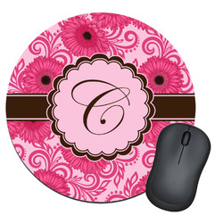 Gerbera Daisy Round Mouse Pad (Personalized)