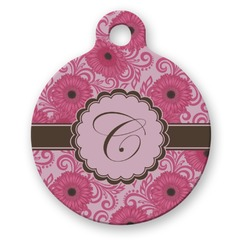 Gerbera Daisy Round Pet Tag (Personalized)