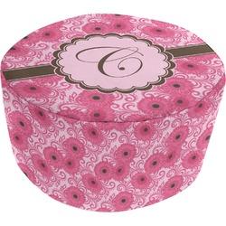 Gerbera Daisy Round Pouf Ottoman (Personalized)