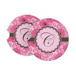 Gerbera Daisy Sandstone Car Coasters (Personalized)