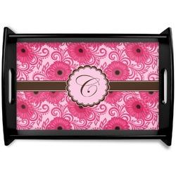 Gerbera Daisy Black Wooden Tray (Personalized)